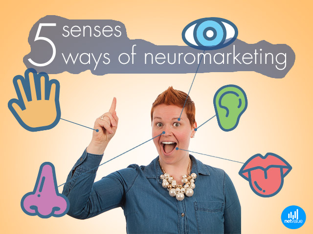 5 senses = 5 ways to Neuromarketing
